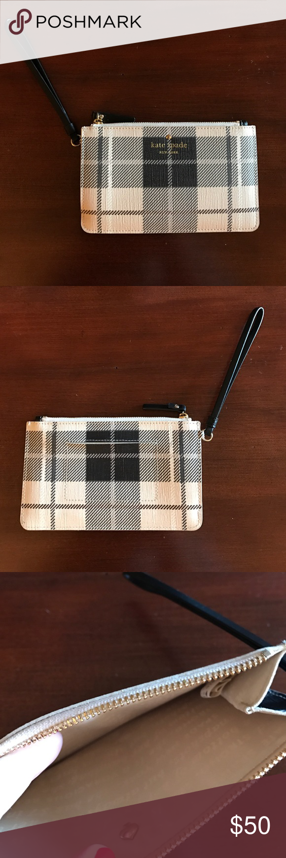 Kate Spade wristlet Plaid Kate Spade wristlet. Never used. Excellent condition. kate spade Bags Clutches & Wristlets