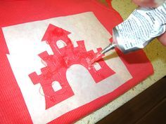 how to do a glitter stencil on a shirt! Perfect for me to make some Disney Ts for Mags & me!