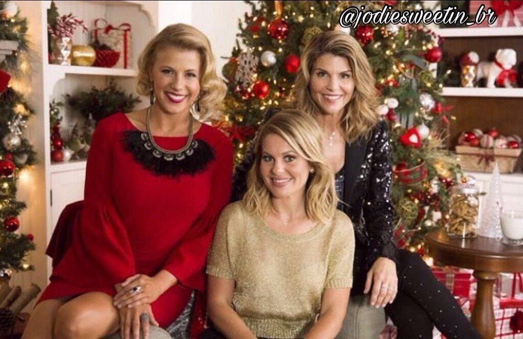 Christmas Holiday With Jodie Sweetin Candace Cameron Bure Lori Loughlin Candace Cameron Hallmark Channel Christmas Movies Christmas Movies