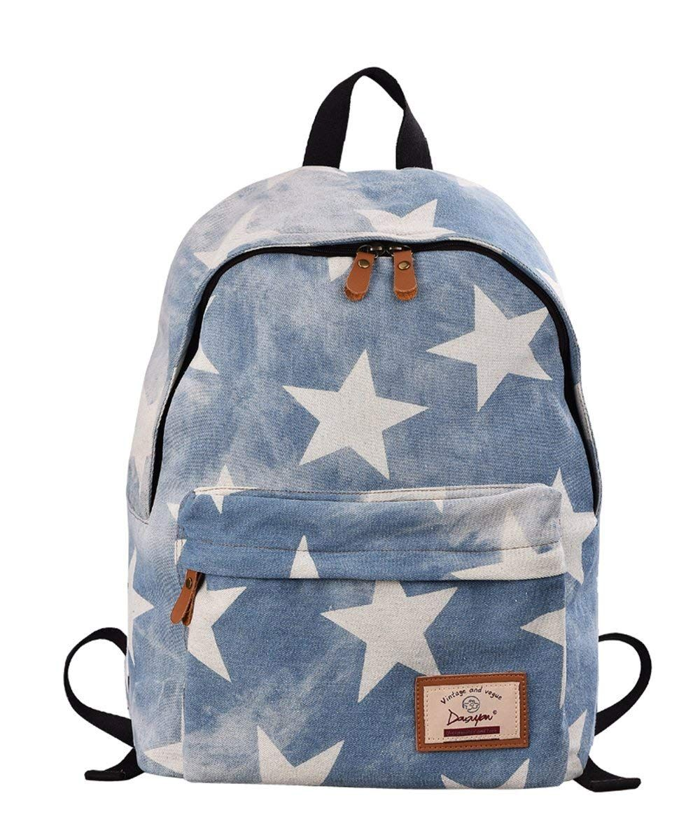 Douguyan Casual Fashion Denim School Bag Daily Backpack For