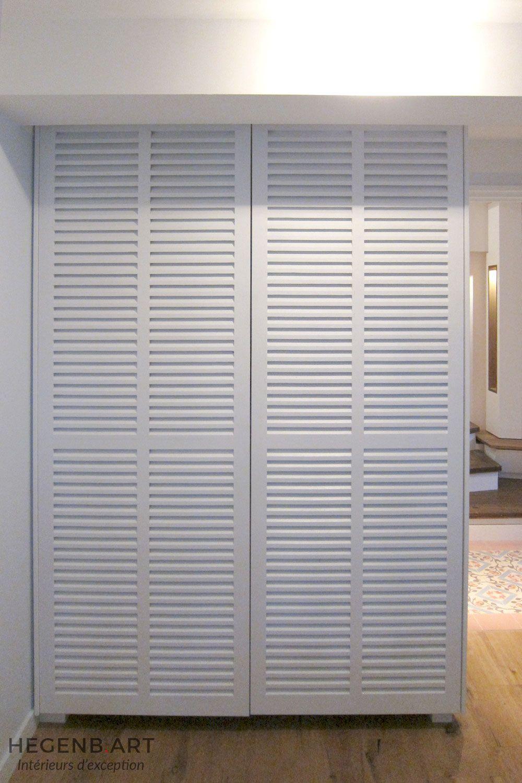 Placard Sur Mesure Contemporain Avec Porte Persienne By Hegenbart Bedroom Design Blinds Home Decor
