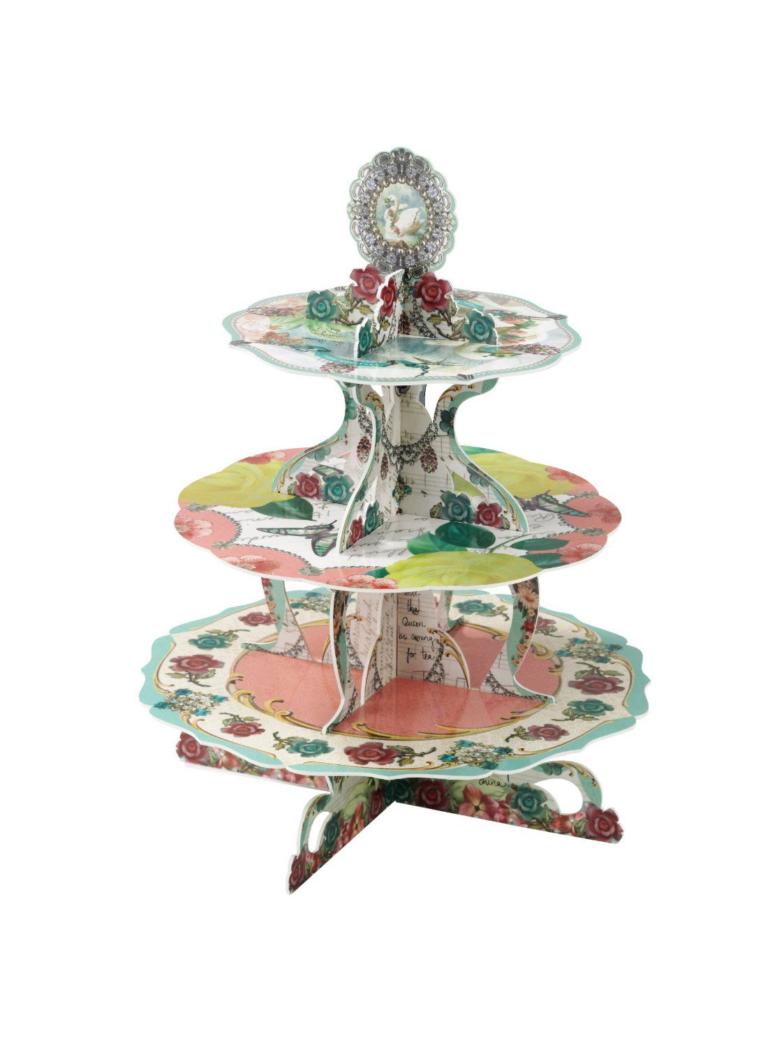 Amazon.com: Talking Tables Pastries and Pearls Cake Stand: Kitchen & Dining