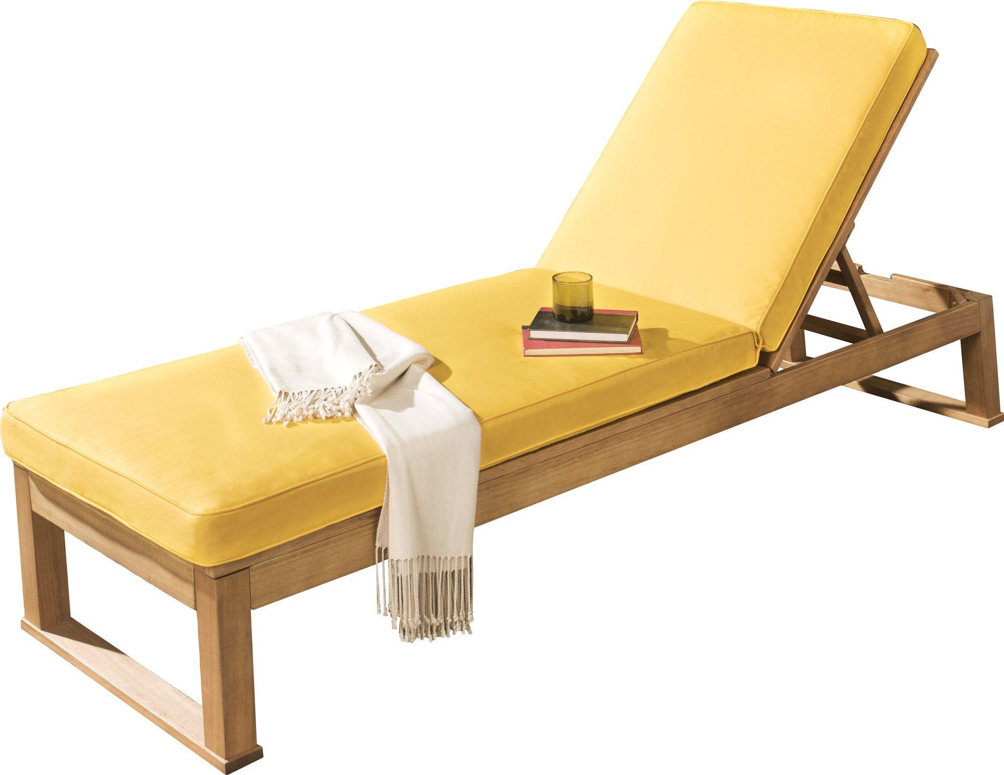 yellow lounge chair cushions