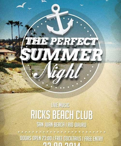Free Perfect Summer Nights Flyer Template – Summer Flyer Template