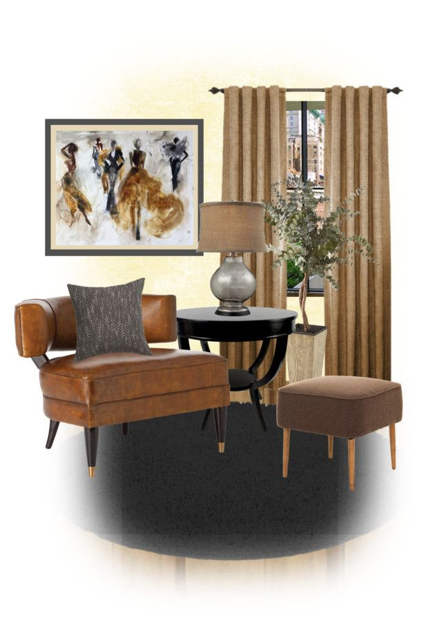 """""""Lounge Chair"""" by diane-hansen ❤ liked on Polyvore featuring interior, interiors, interior design, home, home decor, interior decorating, Pier 1 Imports, Jayson Home, Yves Saint Laurent and CB2"""