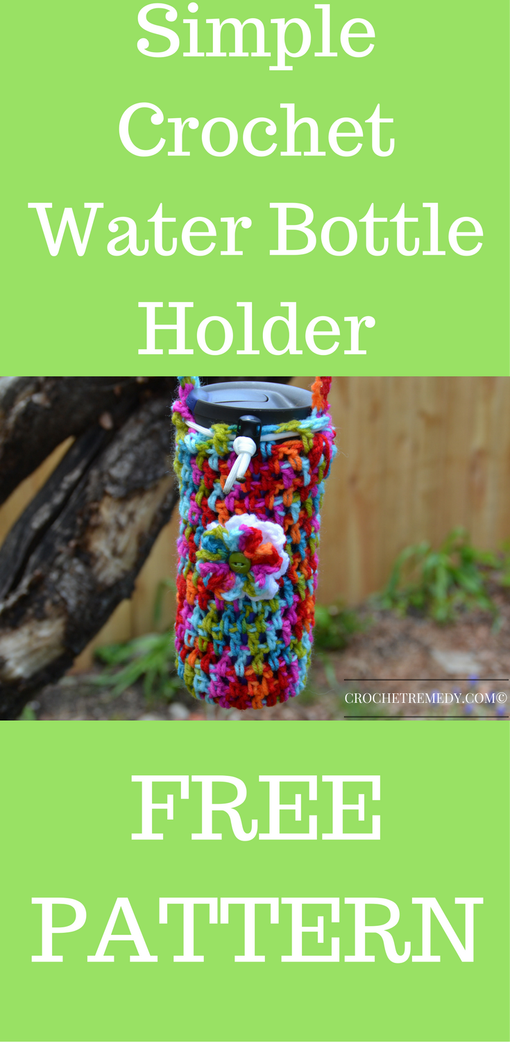 Great crochet project for beginners quick easy and free great crochet project for beginners quick easy and free pattern crochet water water bottle holderswater bankloansurffo Choice Image