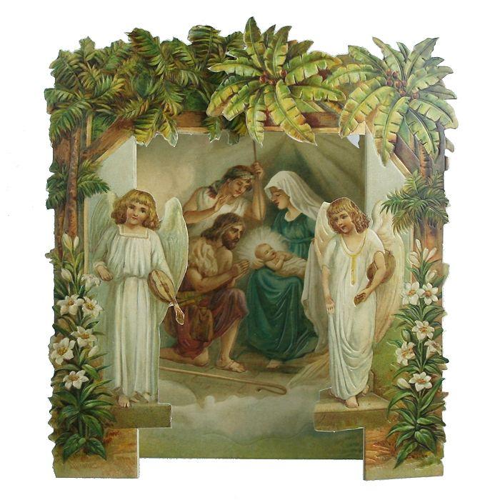 3d standing nativity scene christmas card useful. Black Bedroom Furniture Sets. Home Design Ideas
