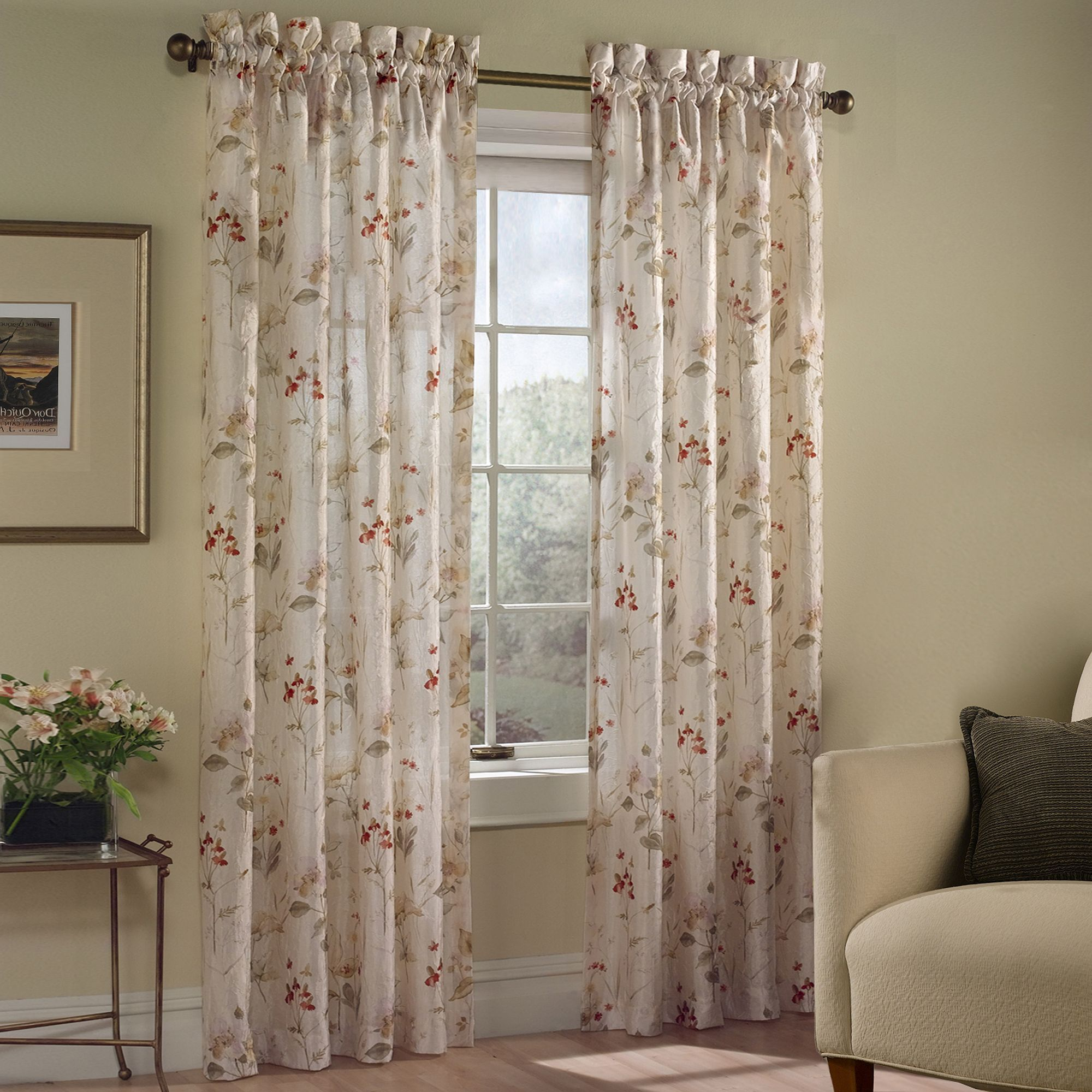 United Curtain Co Chantelle Window Curtains In 2020 Floral