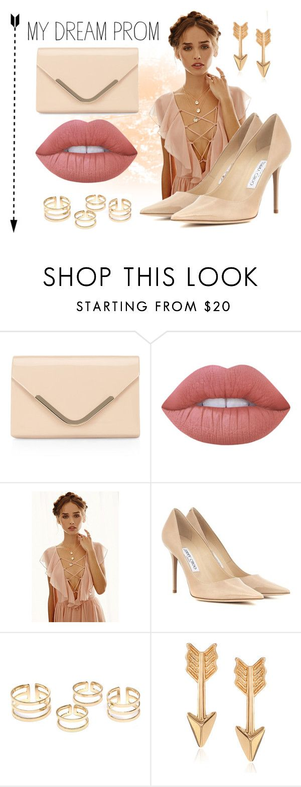 """My Dream Prom"" by selena-sok on Polyvore featuring Accessorize, Lime Crime, Forever 21, Jimmy Choo, Journee Collection, Elegant, pinklips and promdoover"