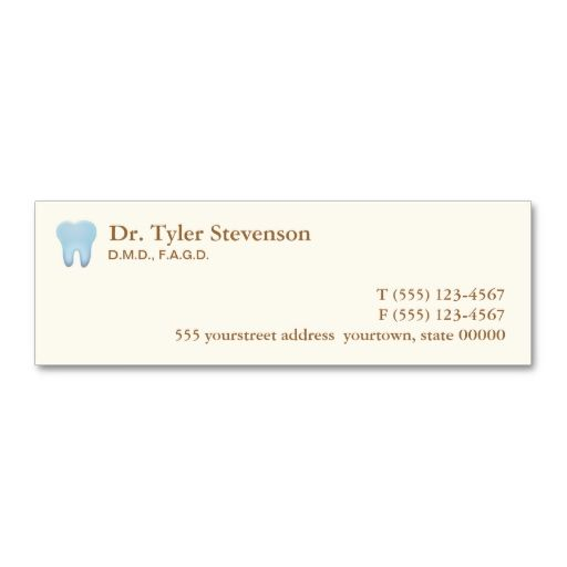 Dentist Appointment Card Business Card Templates. This great ...