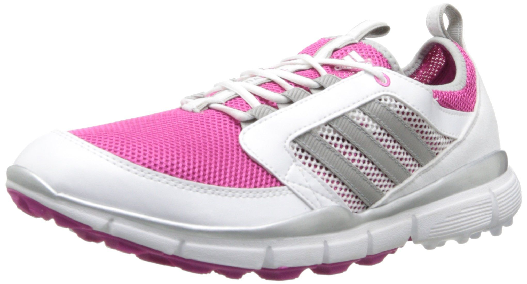 adidas Women's Adistar Climacool Golf Shoe,Bahia Magenta/Metallic Silver/ White,6
