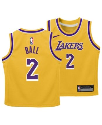 e097e65cee36 Nike Lonzo Ball Los Angeles Lakers Icon Replica Jersey