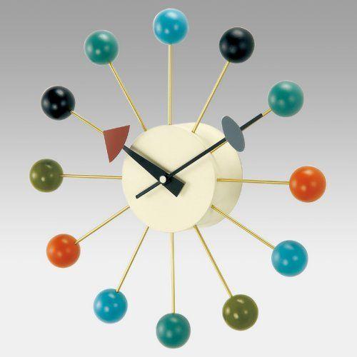 Kirch G81015cl George Nelson Ball Clock Walmart Com Wall Clock Modern Modern Clock Wall Clock Silent