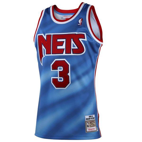 d317af4cc50 New Jersey Nets Drazen Petrovic Mitchell & Ness Light Blue 1992 Authentic  Basketball Jersey