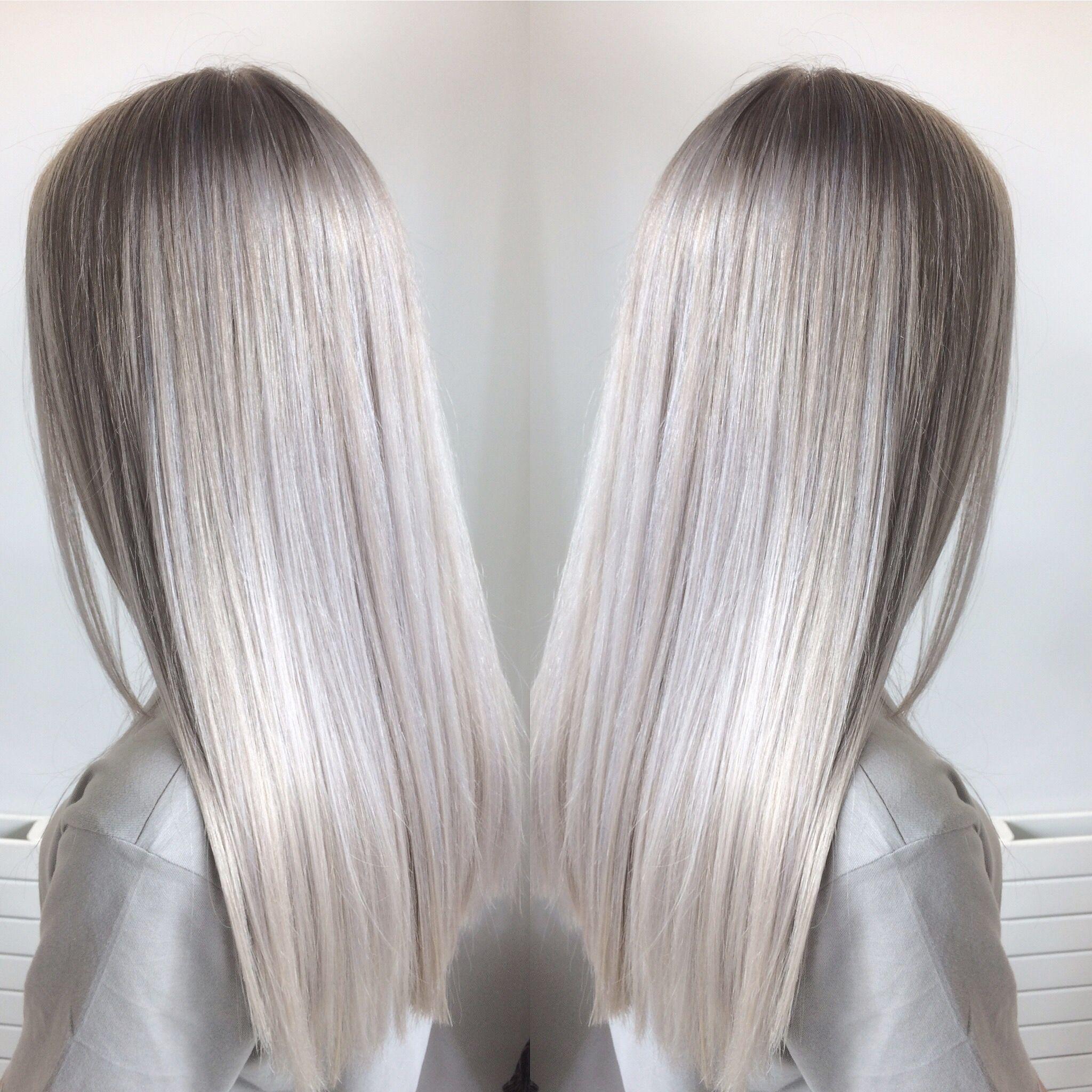 Silver Hair Blonde Hair Highlights Hair Haar Ideen