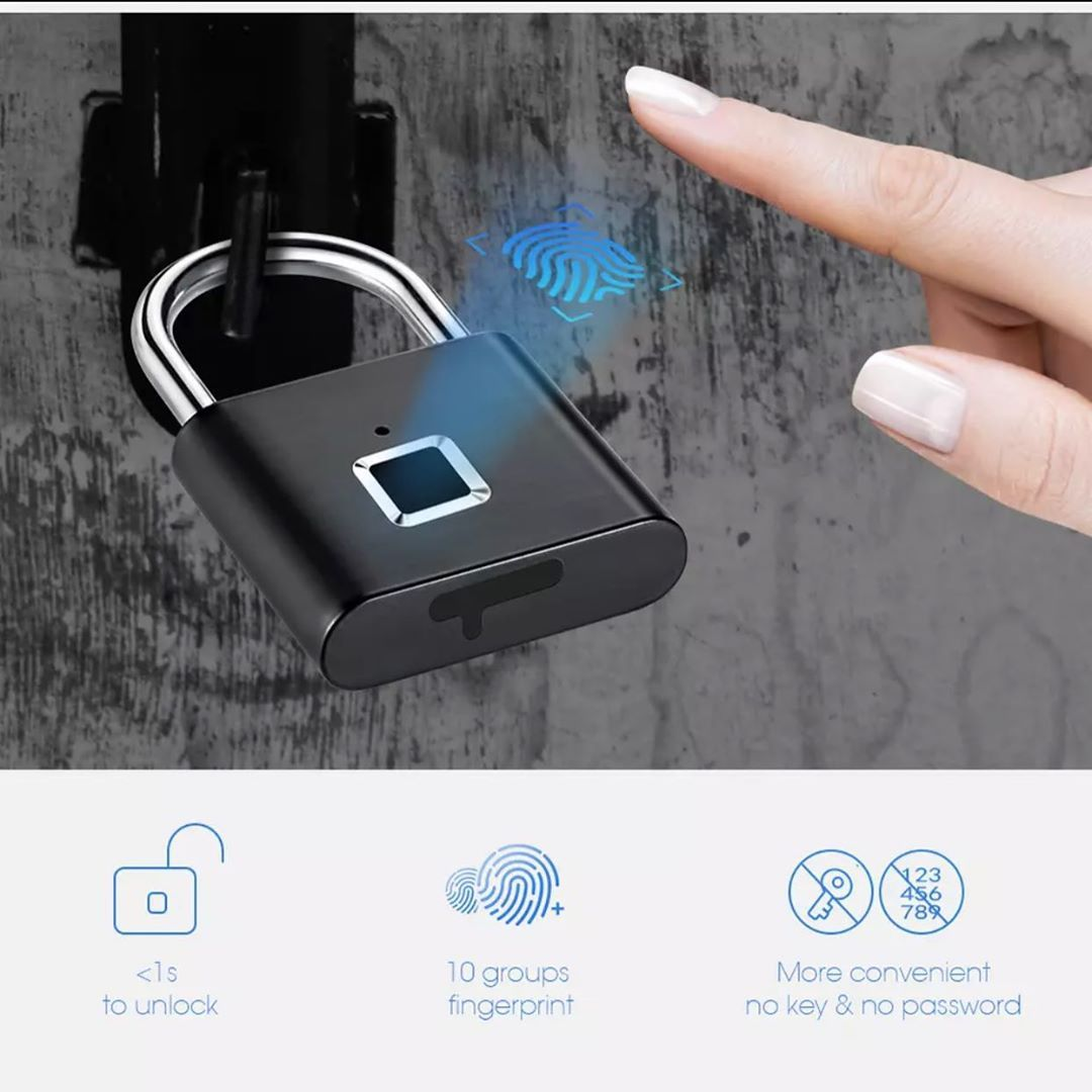 Smart Fingerprint Pad Lock. Great for back to school, fitness centres and many more. #backtoschool...