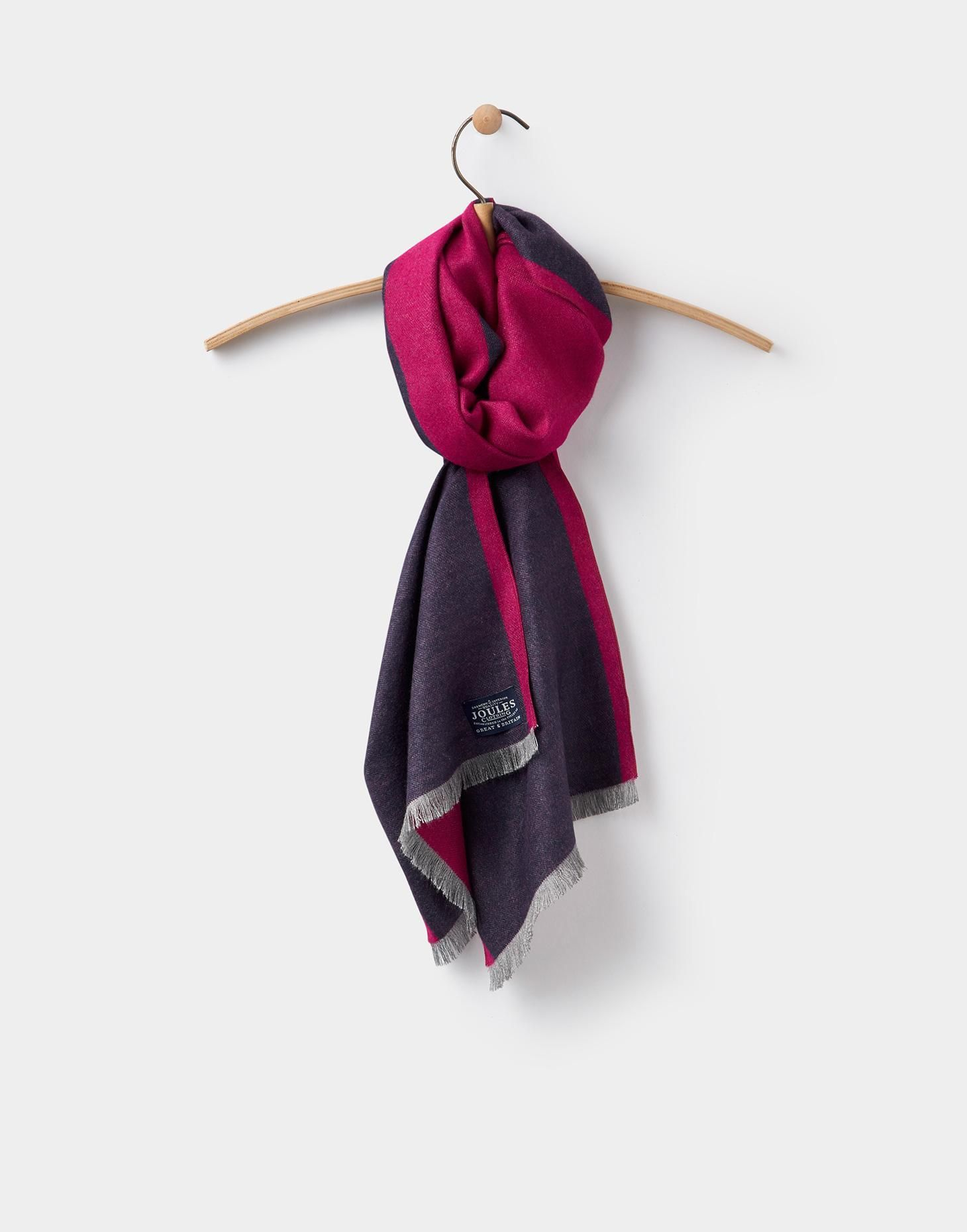 31e269928624f Luxton French Navy Colour Block Scarf , Size One Size | Joules UK ...