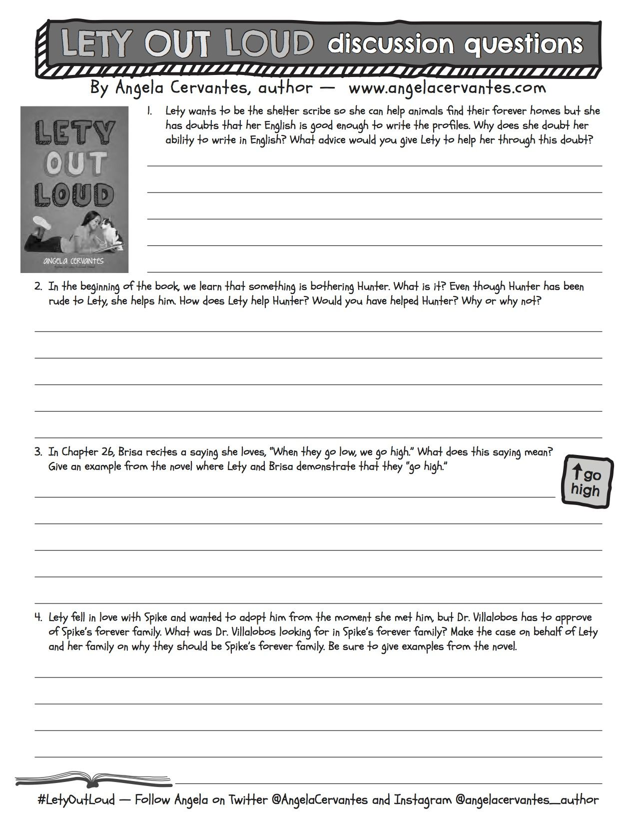 Lety Out Loud Discussion Guide Discussion Guide Reading Resources Discussion Questions [ 1650 x 1275 Pixel ]