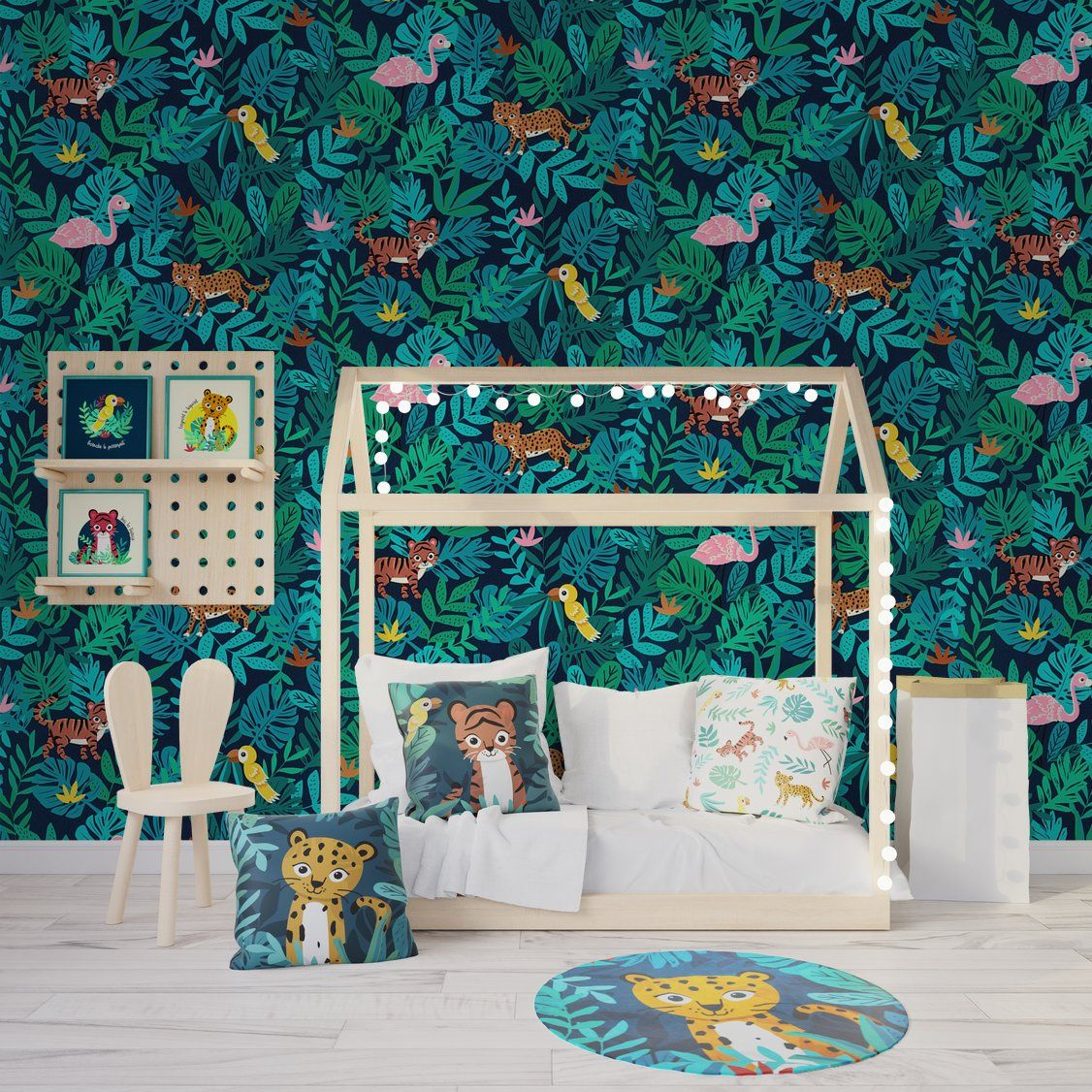 Papier Peint Deco Marine papier peint intissé jungle kidse.rivassoux coloris bleu