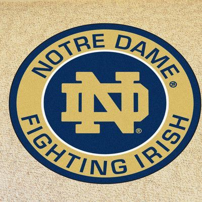 Fanmats Ncaa Notre Dame Roundel 27 In X 27 In Non Slip Indoor Only Mat Wayfair Notre Dame Fighting Irish Notre Dame University Fighting Irish