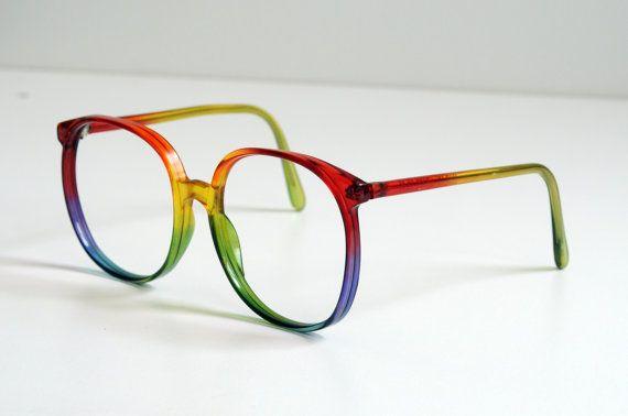 6bb77c9bac4 Rainbow glasses! Wonderful. Don t even wear glasses and I want  em ...