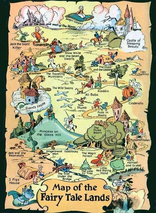 Map Of Fairy Tale Lands My Books Mania