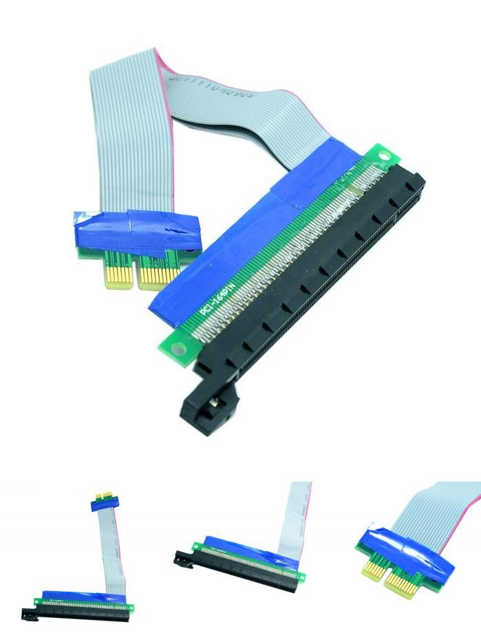 new PCIe Express x1 to x16 Adapter Extender Cable 1X To 16X