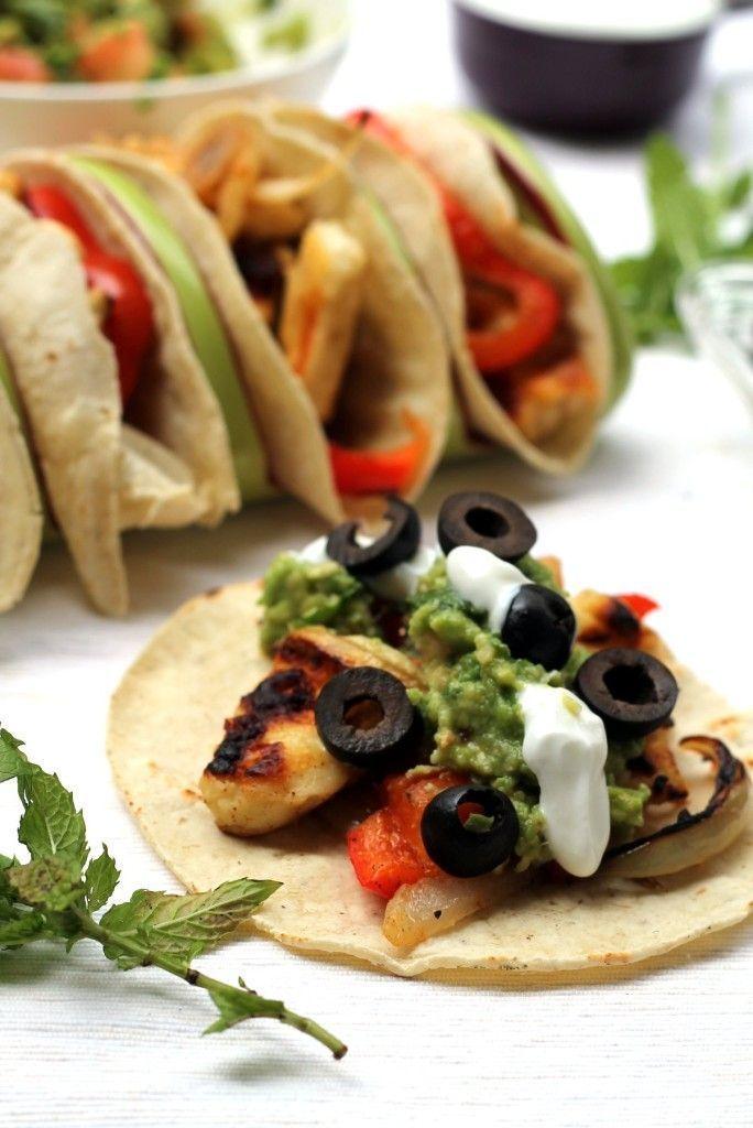 grilled halloumi tacos recette recette de cuisine. Black Bedroom Furniture Sets. Home Design Ideas