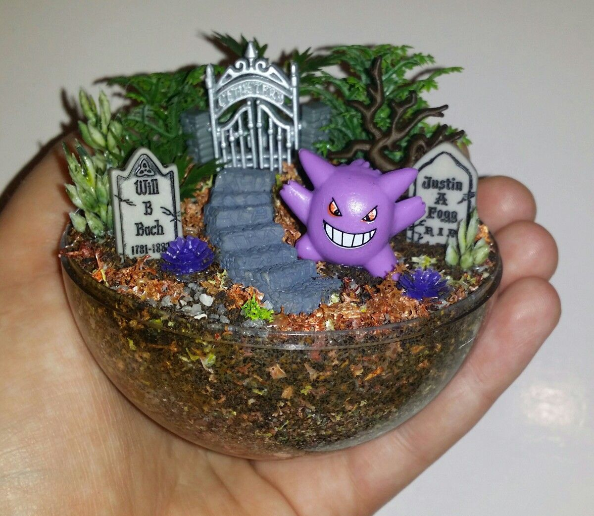 Mini miniature artificial terrarium diorama ornament - Terrarium decoration miniature ...