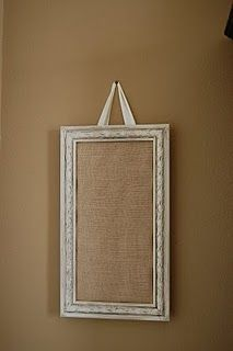 cute idea!  burlap frame ready to pin stuff to