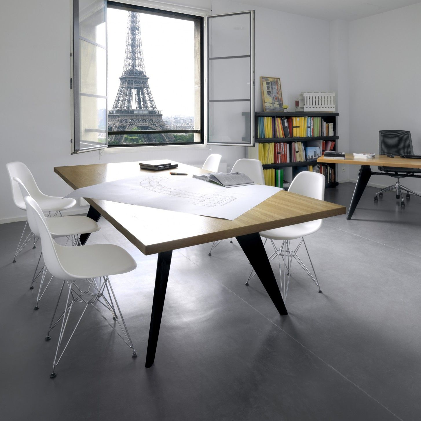 original eames plastic side chair dsr von vitra bei ikarus esstisch pinterest side chair. Black Bedroom Furniture Sets. Home Design Ideas
