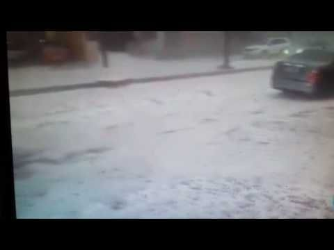 Huge hailstorms damage thousands of houses in Brazil; 20 inches of ice on the streets -- Earth Changes -- Sott.net