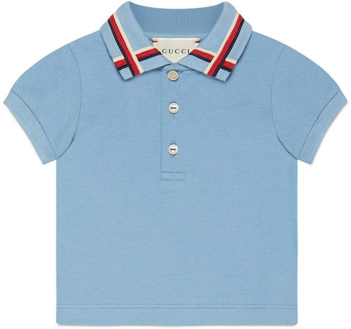 203094fe60b5 Baby cotton polo with Sylvie Web | Kids T -shirts | Gucci baby ...