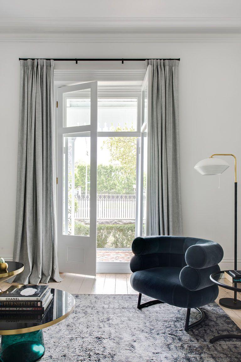 Living Room With Velvet Bibendum Chair By Eileen Gray Modern Interior Design Victorian Living Room Home