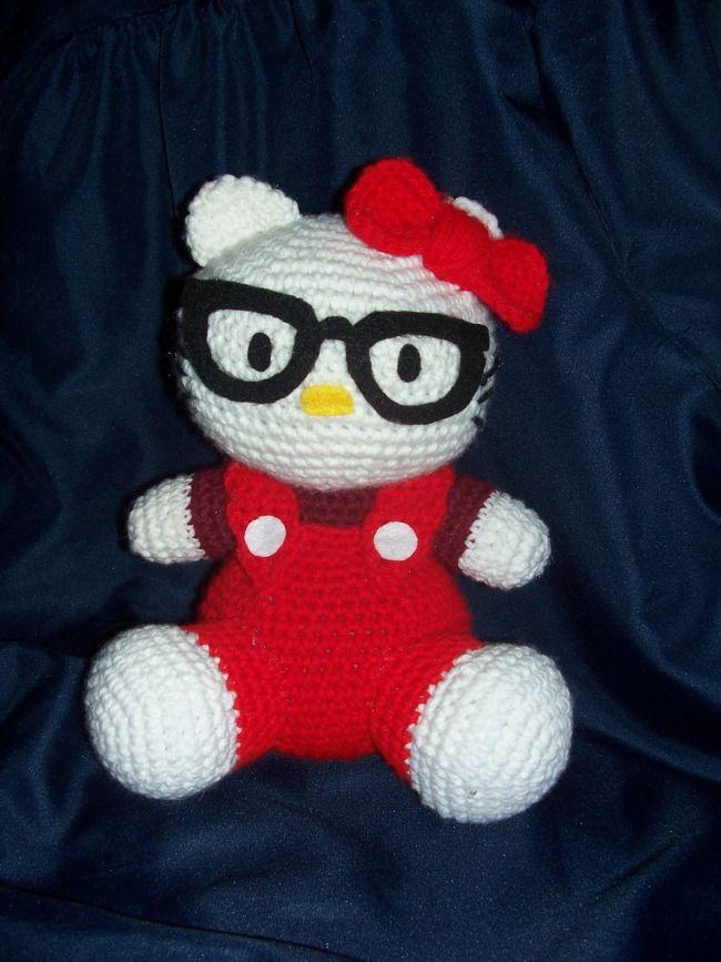 Free Hello Kitty Crochet Pattern!!   Hello kitty, Patrón gratis y ...