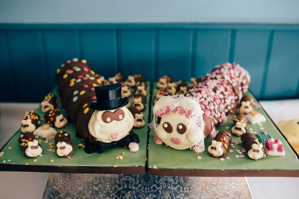 Colin And Connie Caterpillar Wedding Cakes From Marks And Spencer