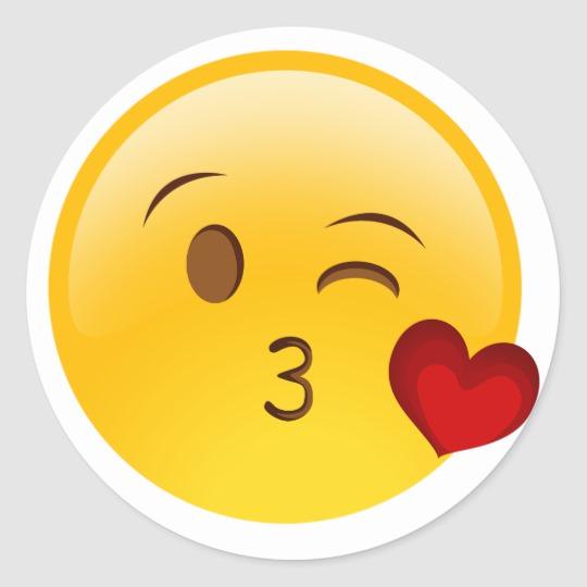 Blow A Kiss Emoji Sticker Zazzle Com Emoji Stickers Kiss Emoji Emoji