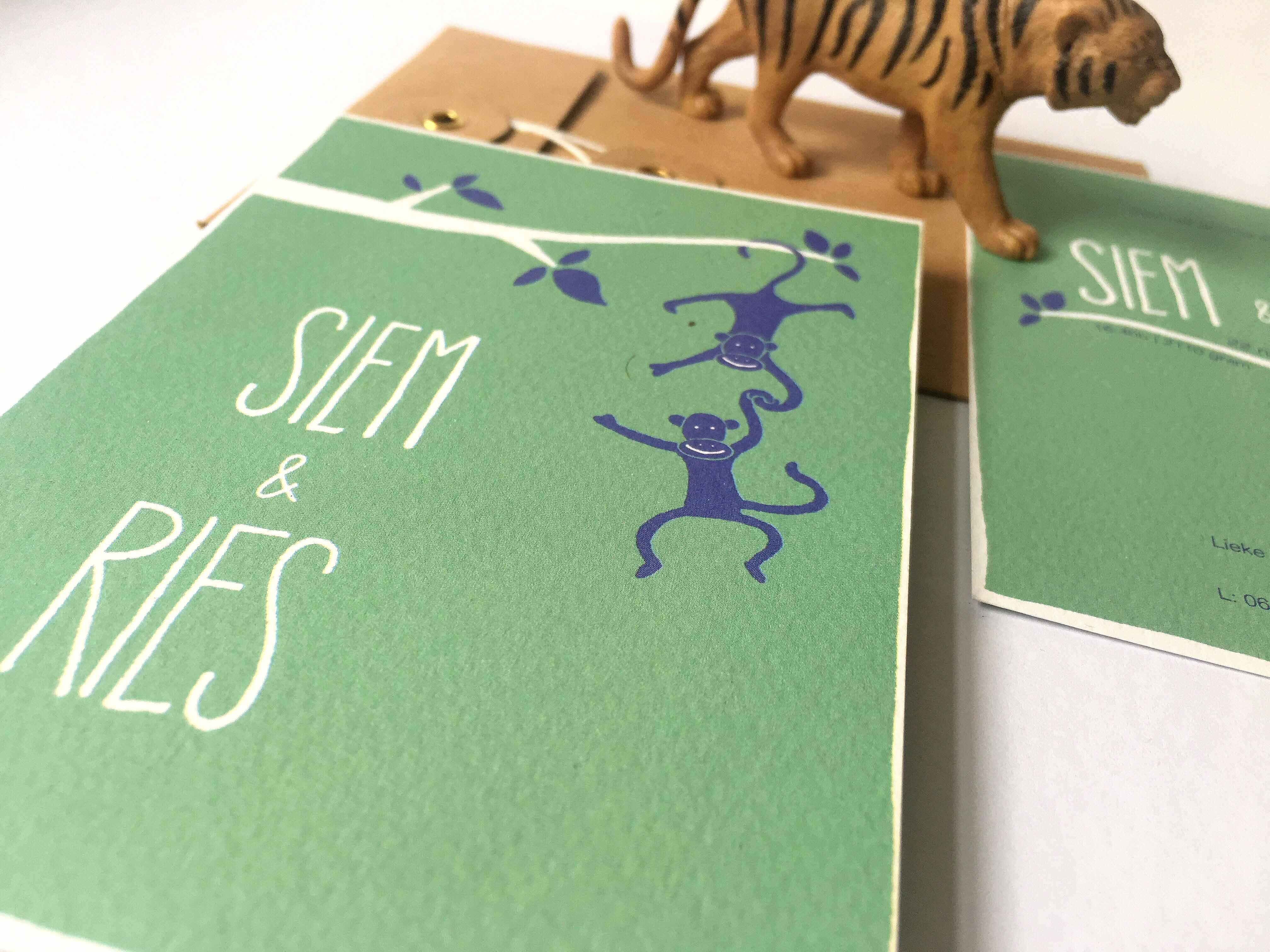 Vrolijk geboortekaartje voor Siem en Ries – Oh Pretty Paper