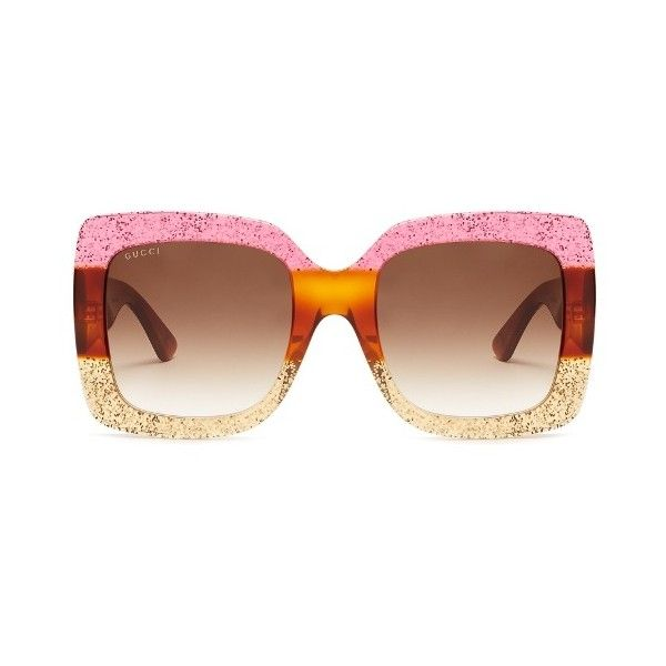 oversized frame sunglasses - Pink & Purple Gucci UitWcylu0r