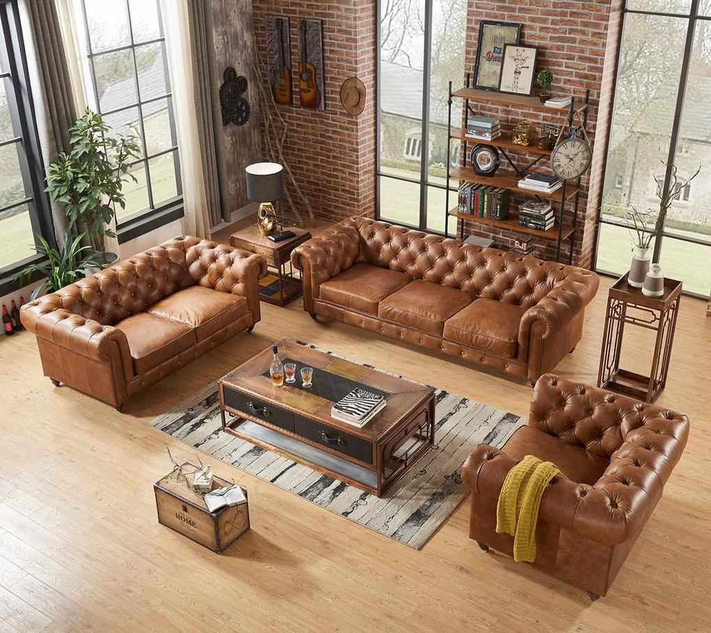 Pin On Chesterfield Sofa Living Room