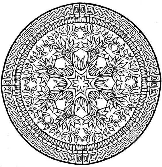 Complex Mandala Coloring Pages R