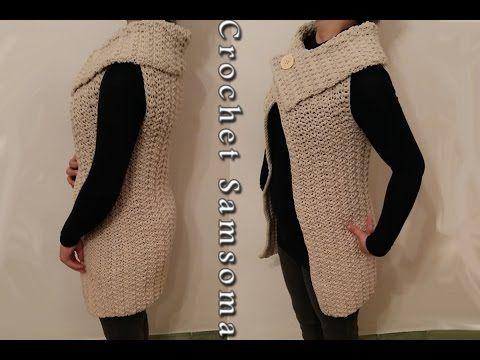 كروشيه جيليه كروشيه جاكيت نسائي لاي مقاس Crochet Jacket For Any Size Youtube Crochet Designs Crochet Videos Tutorials Crochet Woman