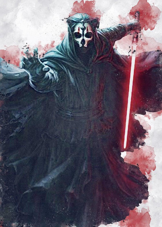 Darth Nihilus Darth Nihilus Poster Darth Nihilus Digital Etsy Star Wars Characters Pictures Star Wars Geek Star Wars Villains