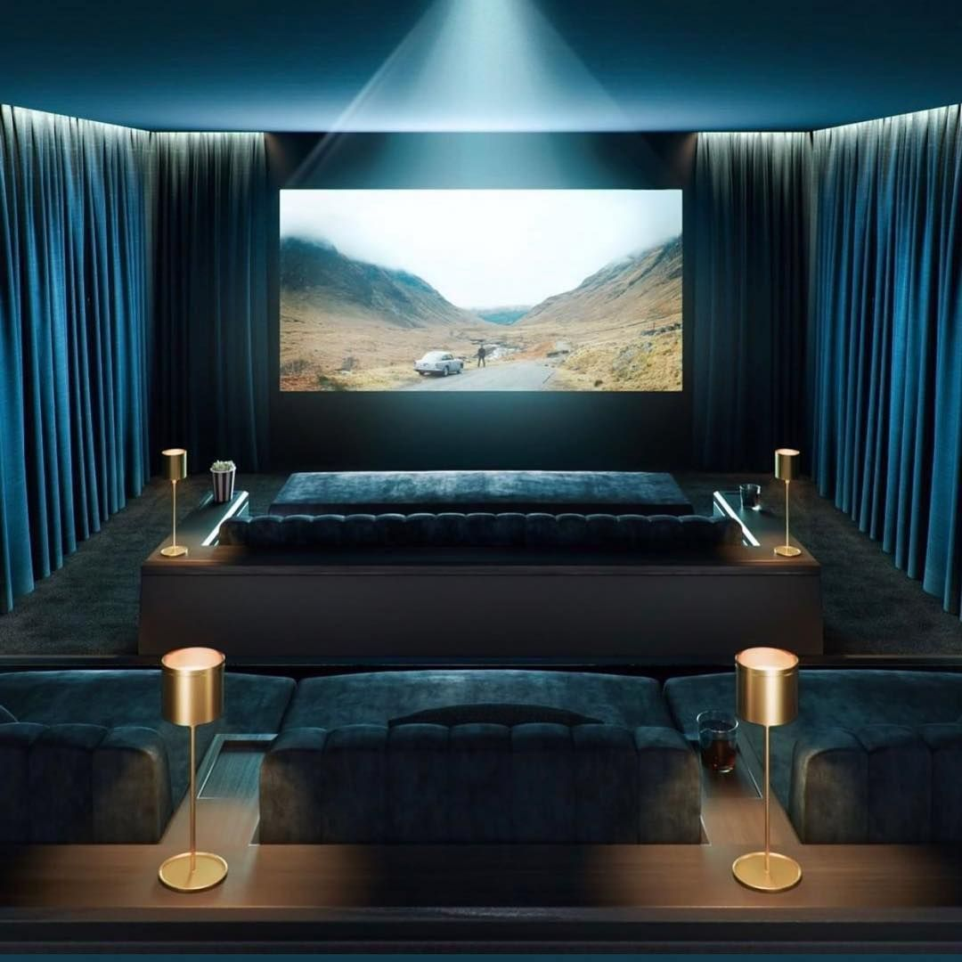 40+ Awesome Basement Home Theater Design Ideas