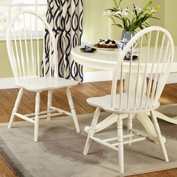 Dining Chairs Deals: Simple Living Alexa Antique White Dining Chairs (Set Of 2