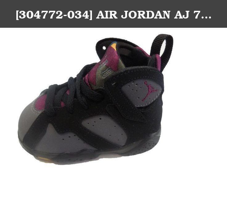 huge discount ae1e0 57f1a  304772-034  AIR JORDAN AJ 7 RETRO BT INFANTS SHOES BLACK BRDX LT GRPHT  MDNGHT FG. Nike Jordan 7 Retro BT Black Midnight 304772-034.