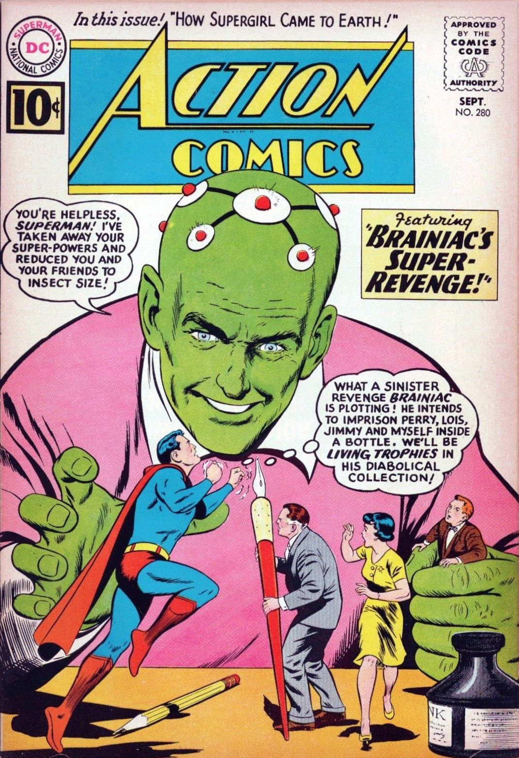 Action Comics 280 Comic Cover. Superman And Brainiac