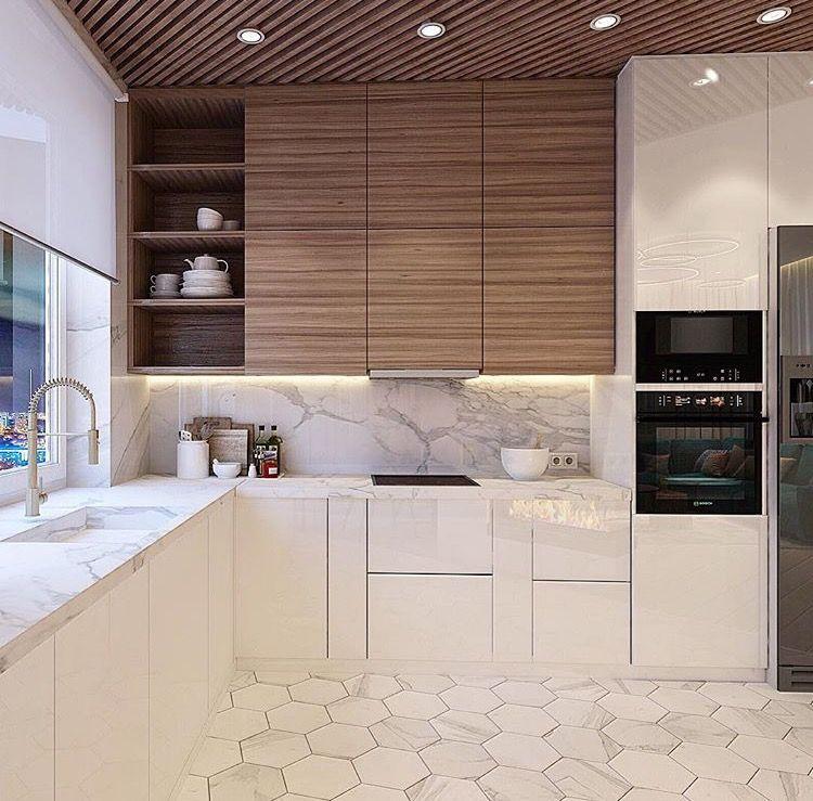 Marmol kuchnia Pinterest Cocinas, Cocina moderna y Interiores