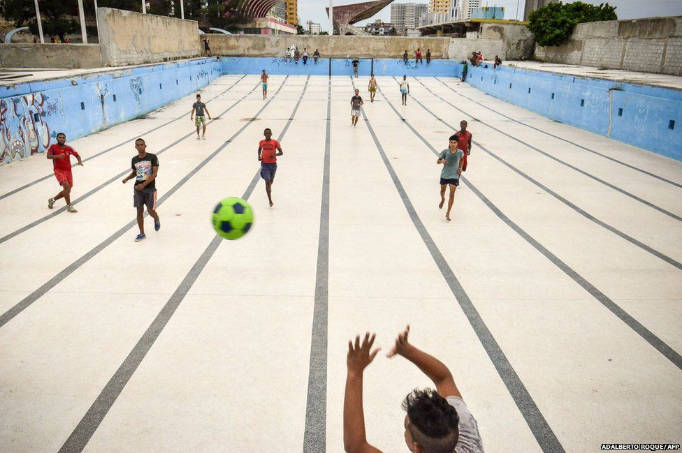 Pitches Swimming Pool Havana, Cuba The Beautiful Game