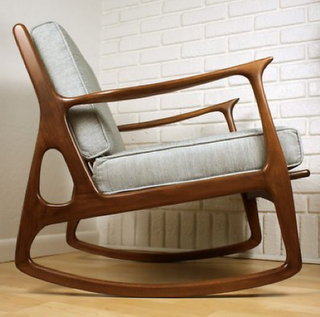 Cool Mcm Rocking Chair Now This Is A Rocking Chair I Can Get Creativecarmelina Interior Chair Design Creativecarmelinacom